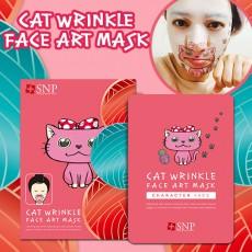 SNP 고양이 링클 페이스 아트 마스크 (10매입)